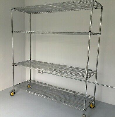 Metro Super Erecta Shelving 4Tier 1880x1830x610mm Chrome Plated Steel Wire Rack