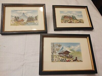 Nice pictures handmade of switzerland or tha alps in europe