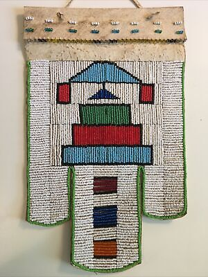 ANTIQUE Zulu Beaded Wedding Wall Art Apron South African Vintage Hanging Tribal