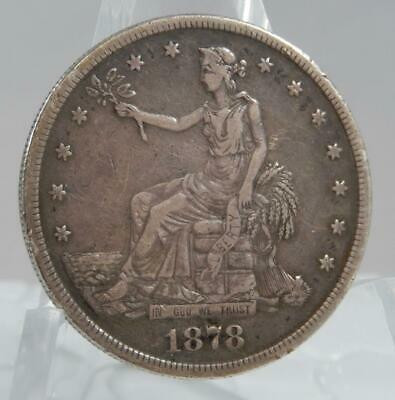 1878-S US United States Silver Trade Dollar Coin Full Liberty C1987