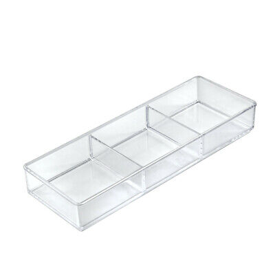 3 Compartment Organizer Tray 12.75 W x 4.5 D x 1.75 H Inches - Lot of 2