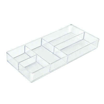 Cosmetic Organizer 15.75 W x 7 D x 1.875 H Inches with 5 Compartment - Set of 2