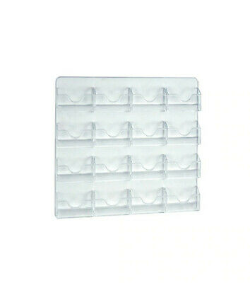 16 Pocket Wall Mount Card Holder 15.625 W x 11.875 H Inches - Lot of 2