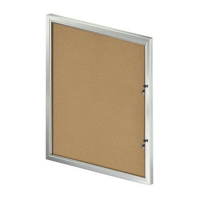 Cork Bulletin Board in Large Size 32.09 W x 42.32 H Inches with Lock/Key