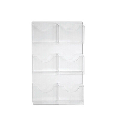 6 Pocket Wall Mount Letter Holder 18.875 W x 33.625 H Inches - Set of 2