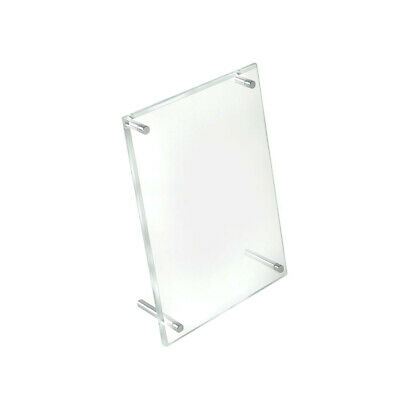 L-Frame Acrylic Sign Holder 5 W x 7 H Inches - Lot of 2