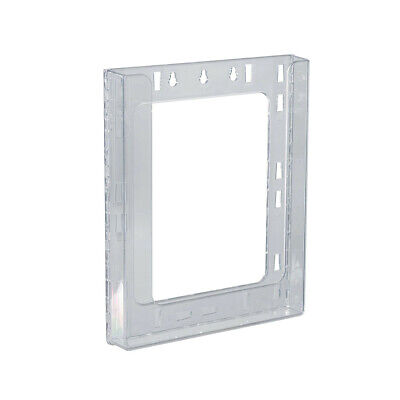 Letter Wall Modular Brochure Holder 9 W x 1.25 D x 11.25 H Inches - Set of 10