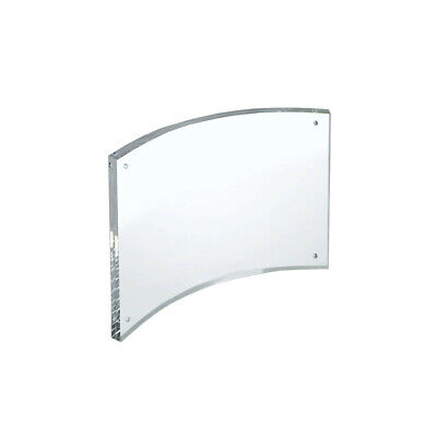 Acrylic Curved Magnetic Sign Holder 7 W x 5 H Inches - Lot of 2