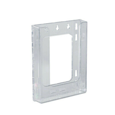 Bifold Wall Mount Brochure Holder 6.125 W x 1.25 D x 7.875 H Inches - Lot of 10