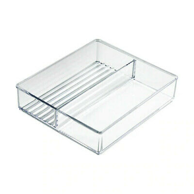 2 Compartment Square Tray 6.5 W x 7.5 D x 1.5 H Inches for Counter - Lot of 2