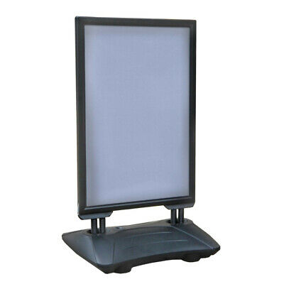 Weighted Sidewalk Sign Holder in Black 30 W x 40 H Inches