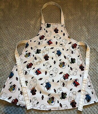 Handmade unique toddler apron '' bright air plains'' 3-6 years approx