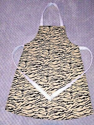 Handmade unique toddler apron ''tiger print '' 3-6 years approx