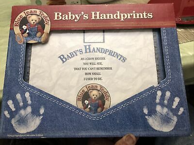 Blue Jean Teddy Baby's Handprints Kit Framable Art of Your Child's Prints