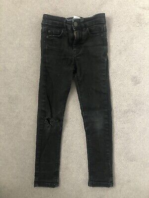 Next Boys Black Skinny Spray On Jeans Age 6