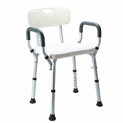 Nisorpa Shower Stool Seat Adjustable Shower and Bath Bench 47 x 41 x 76 cm with