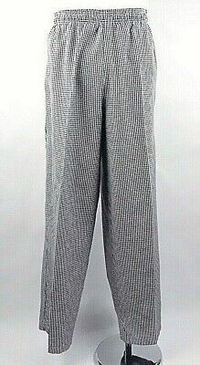 Fame Chef Unisex White Houndstooth Classic Baggy Chef Pants C15 Size 3XL