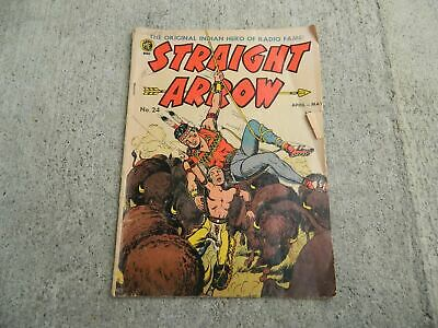 1952 Vintage Straight Arrow Comic Book #24 10 Cents ME Nabisco The Indian Hero