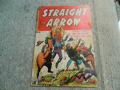 1953 Vintage Straight Arrow Comic Book #33 10 Cents ME Nabisco The Indian Hero