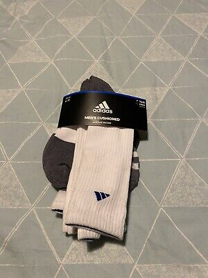 Adidas Mens Womens 3 Pairs Cushioned Socks Crew Ankle Socks Sports Gym Cotton