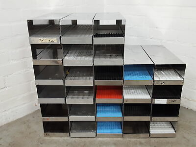 Lot of 13 -80 Freezer Storage Tray Racks Lab 44.3cm x 23cm x 15.9cm
