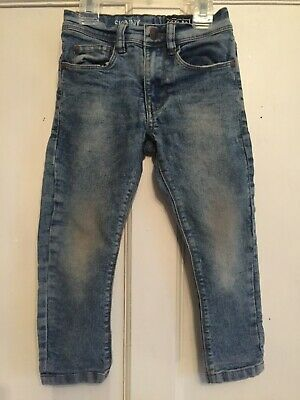 Boys Blue Dirty Vintage Skinny Denim Jeans from Next Age 3 years