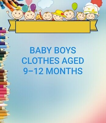 Baby Boys Clothes 9-12 Months Make Your Own Bundle Jeans Tops Sweaters & More