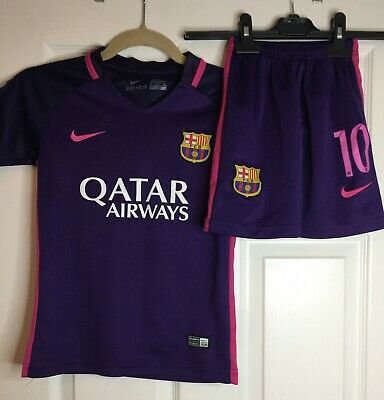 'Messi' FC Barcelona away kit 2016/2017 - 6/7 years - kids