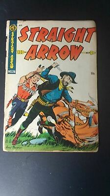 1953 Vintage Straight Arrow Comic Book #28 10 Cents ME Nabisco Red Hawk