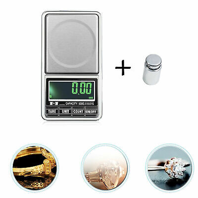 LCD Electronic Digital Multi-functional Scales Gold Kitchen Jewellery Scale Herb