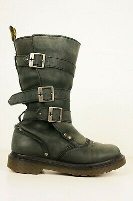 Dr Martens Vintage Leather Strap Up Boots Sz 4 UK