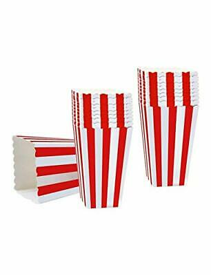 50PCS Popcorn Favor Boxes, Striped Paper Popcorn Boxes Cardboard Candy Container