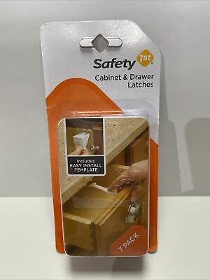 Safety 1st 7 Pack Wide Grip Cabinet Locks & Drawer Latches Child Proof - 48444