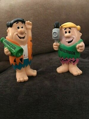 "vintage Fred Flintstone 4"" tall and Barney Rubble 3"" tall figurines"
