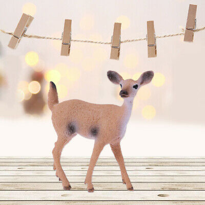 1pcs Lifelike Deer Model Decor Toy Deer Ornaments for Shopping Mall Home