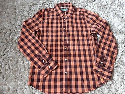 Scotch Shrunk Boys Long Sleeve Checked Shirt Size 12 Years Height 152cm