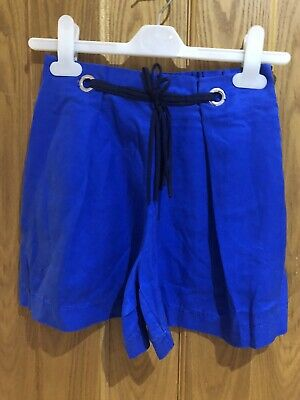 Zara Girls Blue Shorts With Tie Up Age 9-10 Good Condition