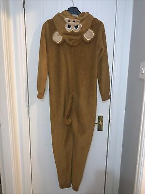 Unisex Hooded Monkey All In One Age 9-10 Years Fun Lounge Wear Boys Girls