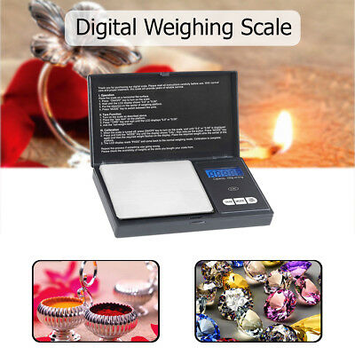 Small Mini Digital Pocket Scale with Calibration Weight & 0.01g - 500g Accuracy