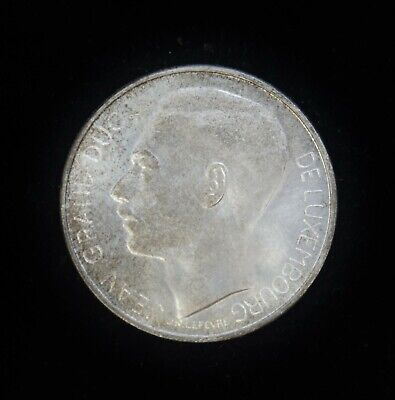 1964 Luxembourg 100 Francs KM #54 Uncirculated Silver Coin B6321