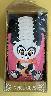 Vintage Panda Bear Party Nut Cups American Greetings Party 60's Groovy Paper MIB