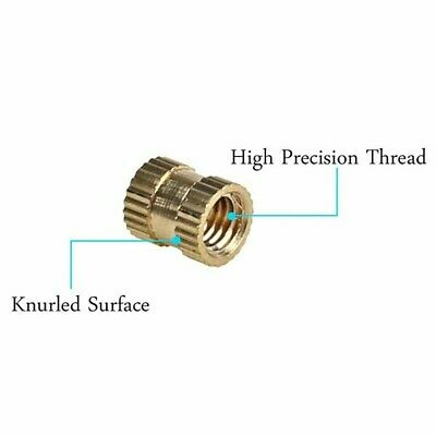 Round Thread Knurled Nut Threaded Parts Replacement 330pcs Brass Female