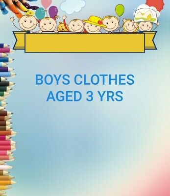 Boys Clothes Aged 3 Yrs, Make Your Own Bundle, T-Shirts Jeans Hoodies Tops Etc.