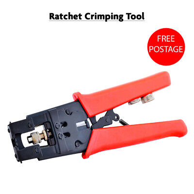 Ratchet Crimper Cable Wire Terminals Electrical Plier Crimping Tool