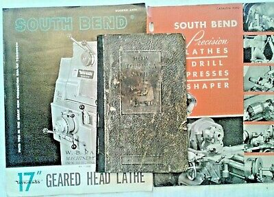 South End Lathe 4 Booklets: How to Run a Lathe 1941 Catalog 5243 Bulletin 6406 +