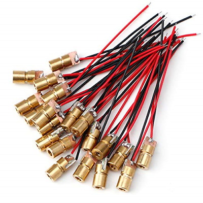 20pcs 5V 650nm 5mW Red Dot Laser Head Red Laser Diode Laser Tube with Leads Head