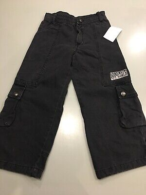 Christian Dior. Boys Cargo Trousers. 4 years. Washed black.
