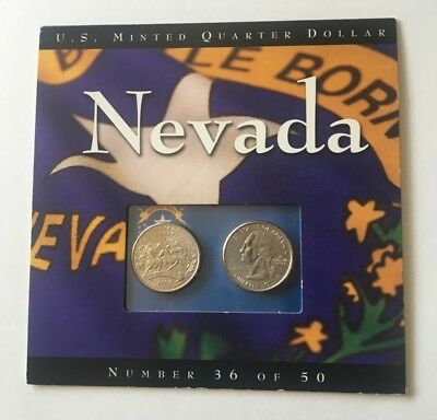 2006 Nevada State Quarter 2 Coin Set #36 Of 50 Uncirculated ~ Mint