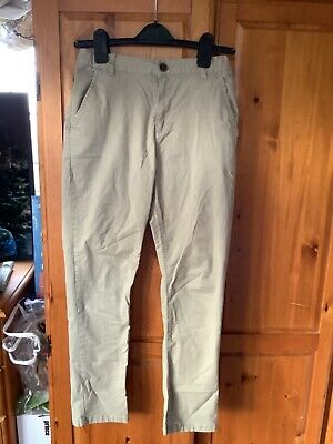 Marks and Spencer's boys  chino style trousers age 11-12 years worn once stone