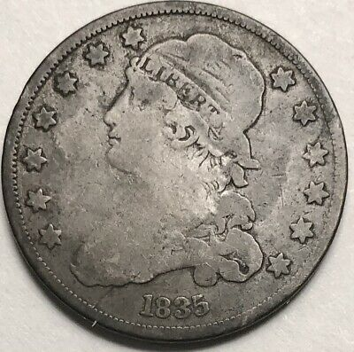 1835 25C Capped Bust Quarter in Very Good Condition